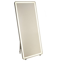 Artcraft AM311 Reflections 67 X 28 inch Brushed Aluminum Floor Mirror, with LED Light