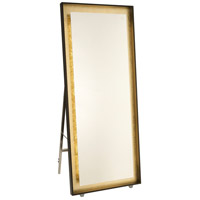 Artcraft AM314 Reflections 67 X 28 inch Oil Rubbed Bronze and Gold Leaf Floor Mirror, with LED Light