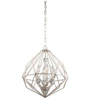 ARTCRAFT Monterey 4 Light Chandelier in Textured Silver CD2004TS