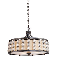 Artcraft Lighting Charleston 4 Light Pendant with Satin Hard Back Shade CD2034 photo thumbnail