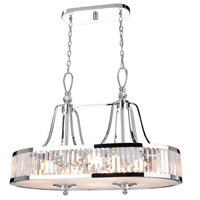 Artcraft Lighting Crystal Cloud 8 Light Island Light in Chrome CD2078