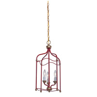 Artcraft Lighting Scarlet 3 Light Chandelier in Dark Red CL1351RD