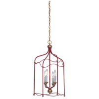 Artcraft Lighting Scarlet 4 Light Chandelier in Dark Red CL1354RD