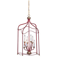 Artcraft Lighting Scarlet 8 Light Chandelier in Dark Red CL1358RD