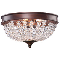 ARTCRAFT Cobochon 2 Light Flush Mount in Bronze CL1364