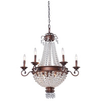 Artcraft Lighting Cobochon 9 Light Chandelier in Bronze CL1366
