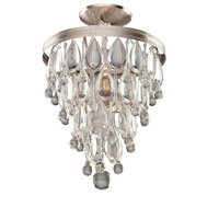 Pebble 2 Light 11 inch Antique Silver Semi Flush Mount Ceiling Light