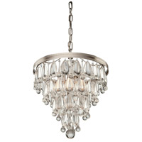 Pebble 4 Light 14 inch Antique Silver Chandelier Ceiling Light