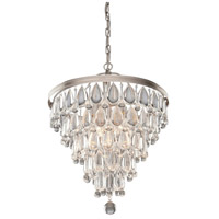 Pebble 6 Light 18 inch Antique Silver Chandelier Ceiling Light