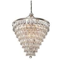 Pebble 11 Light 23 inch Antique Silver Chandelier Ceiling Light