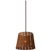 Loom 1 Light 14 inch Brown Chandelier Ceiling Light
