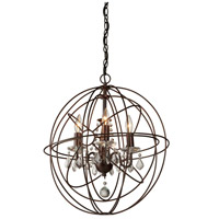 Artcraft Lighting Carnaby Street 4 Light Chandelier in Bronze CL1504