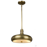 Halo 2 Light 11 inch Burnished Brass Pendant Ceiling Light