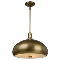 Halo 3 Light 16 inch Burnished Brass Pendant Ceiling Light