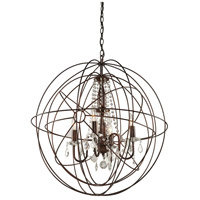 ARTCRAFT Carnaby Street 5 Light Chandelier in Bronze CL1505