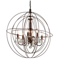 Artcraft Lighting Carnaby Street 6 Light Chandelier in Bronze CL1506
