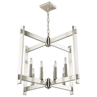 Cityscape 8 Light 26 inch Polished Nickel Chandelier Ceiling Light