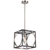 Corona 1 Light 10 inch Black and Polished Nickel Pendant Ceiling Light