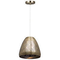 Starstruck 1 Light 12 inch Vintage Brass Pendant Ceiling Light