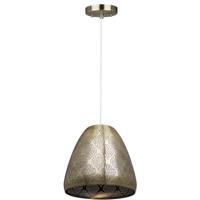 Artcraft CL15102 Starstruck 1 Light 12 inch Vintage Brass Pendant Ceiling Light