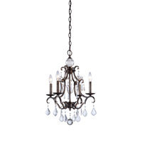 Artcraft Lighting Vintage 4 Light Chandelier in Dark Brown CL1574DB