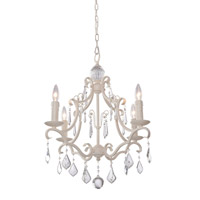 Artcraft Lighting Vintage 4 Light Chandelier in Antique White CL1574AW