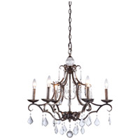 Artcraft Lighting Vintage 6 Light Chandelier in Dark Brown CL1576DB