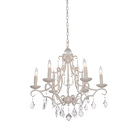 Artcraft Lighting Vintage 6 Light Chandelier in Antique White CL1576AW