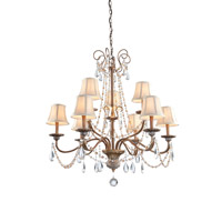 Artcraft Lighting Teardrop 9 Light Chandelier in Bronze CL1969