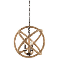Danbury 4 Light 20 inch Bronze Chandelier Ceiling Light
