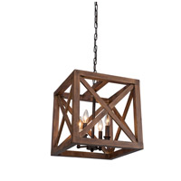 Collingwood 4 Light 15 inch Walnut Browm Pendant Ceiling Light