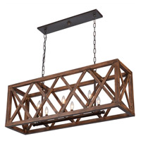 Artcraft Lighting Collingwood 6 Light Island Light in Walnut JA14006