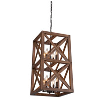 Collingwood 8 Light 15 inch Walnut Browm Pendant Ceiling Light