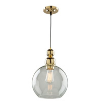 Etobicoke 1 Light 10 inch Gold Pendant Ceiling Light