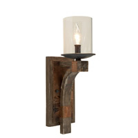 Artcraft Lighting Hockley 1 Light Wall Bracket in Authentic Pine w/ Copper Plates JA487