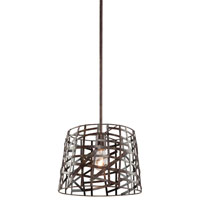 Collingwood 1 Light 12 inch Multi-Toned Bronze Pendant Ceiling Light