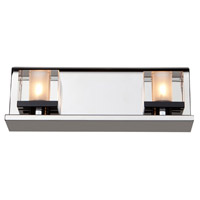 Eddie 2 Light 12 inch Chrome Bathroom Vanity Wall Light