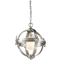 Pharmacy 1 Light 14 inch Brushed Nickel Chandelier Ceiling Light