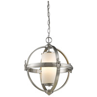 Pharmacy 4 Light 20 inch Brushed Nickel Chandelier Ceiling Light
