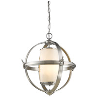 Pharmacy 4 Light 25 inch Brushed Nickel Chandelier Ceiling Light