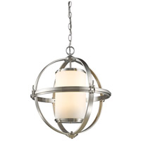 Pharmacy 6 Light 30 inch Brushed Nickel Chandelier Ceiling Light