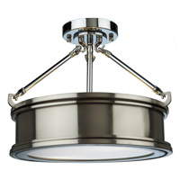 Eastwick 2 Light 13 inch Brushed Nickel Semi Flush Ceiling Light