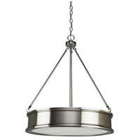 Eastwick 3 Light 18 inch Brushed Nickel Chandelier Ceiling Light