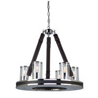 Steven & Chris by Artcraft Lighting Westchester 6 Light Chandelier in Chrome SC13056
