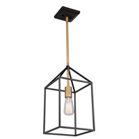 Artcraft SC13071 Twilight 1 Light 10 inch Matte Black and Harvest Brass Chandelier Ceiling Light
