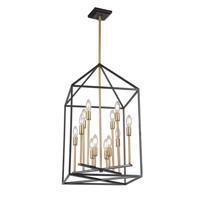 Artcraft SC13072 Twilight 12 Light 22 inch Matte Black and Harvest Brass Chandelier Ceiling Light
