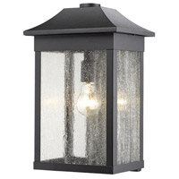 Morgan 1 Light 16 inch Black Outdoor Wall Light