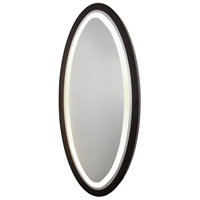Valet 60 X 28 inch Matte Black Lighted Wall Mirror