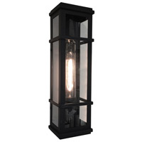 Granger Square 1 Light 20 inch Black Outdoor Wall Light