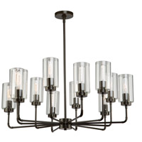 Ray 12 Light 35 inch Oil Rubbed Bronze Chandelier Ceiling Light